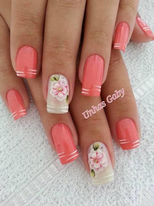 Flores... | Uñas | Pinterest | Flores, Diseños de uñas y Arte de uñas