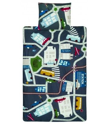 Beddinghouse Kinderdekbedovertrek Wegenkaart Traffic