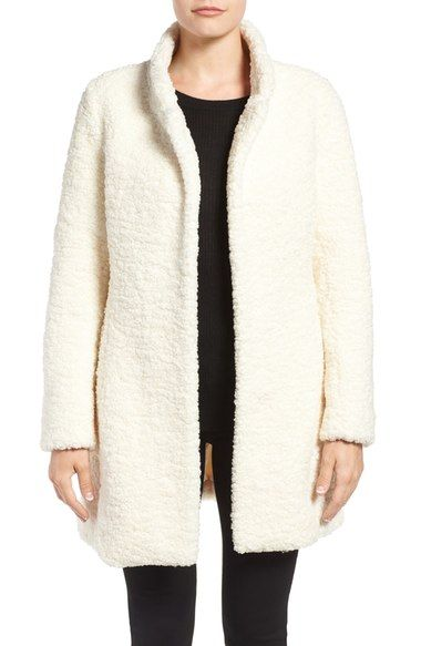 99a86eb96 Ivanka Trump Textured Faux Fur Coat available at #Nordstrom ...