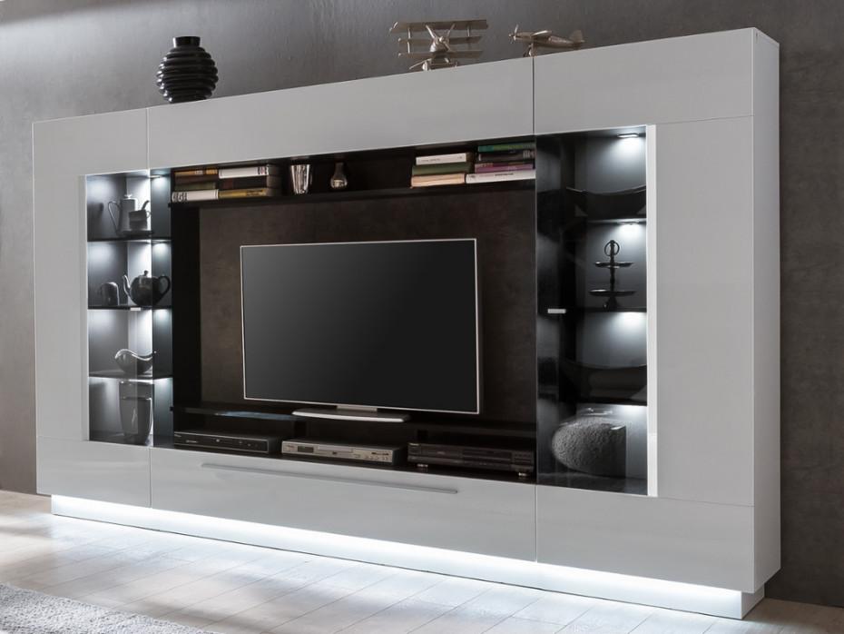 mur tv blake avec rangements leds