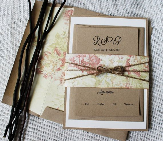 Vintage Handmade Wedding Invitations: The Perfect Mix Of Modern, Rustic Chic, Shabby Chic And