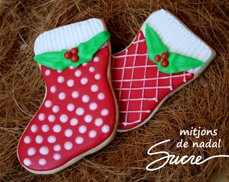 Galletas Decoradas De Botascalcetines De Navidad