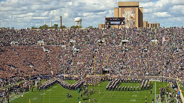 Notre Dame Football Stadium Bing Images See Touchdown Jesus