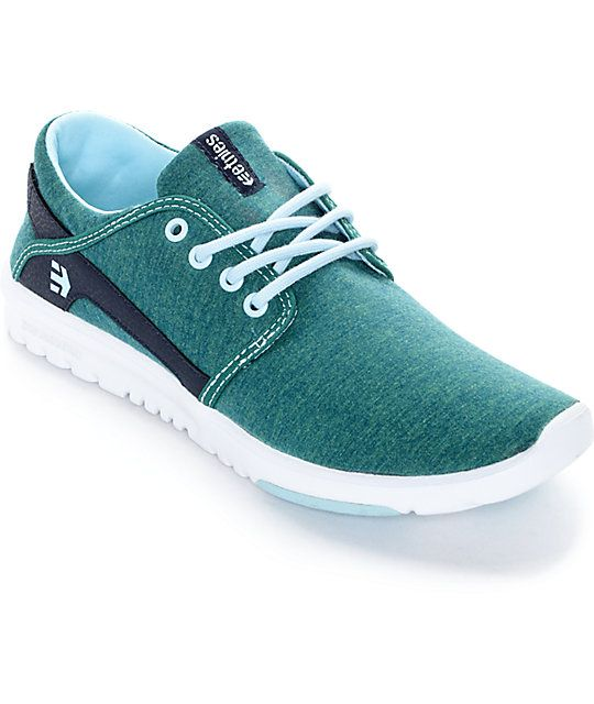 Your shoe collection is incomplete without these women's Scout green  heather shoes by Etnies. The low profile, soft knit shell, awesome and  unique colors ...