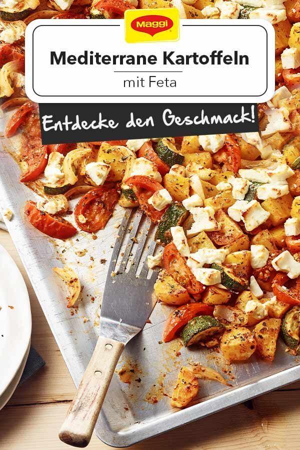 Feta mit Gemüse und Kartoffeln vom Blech