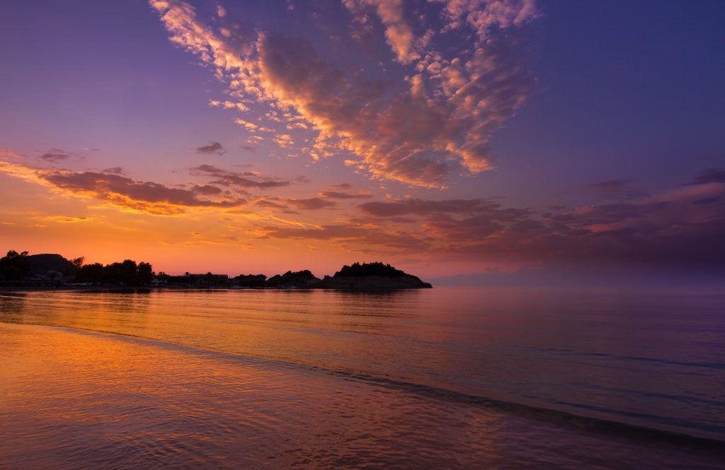 The coast of northern Corfu at sunset (OC) [1024x683]