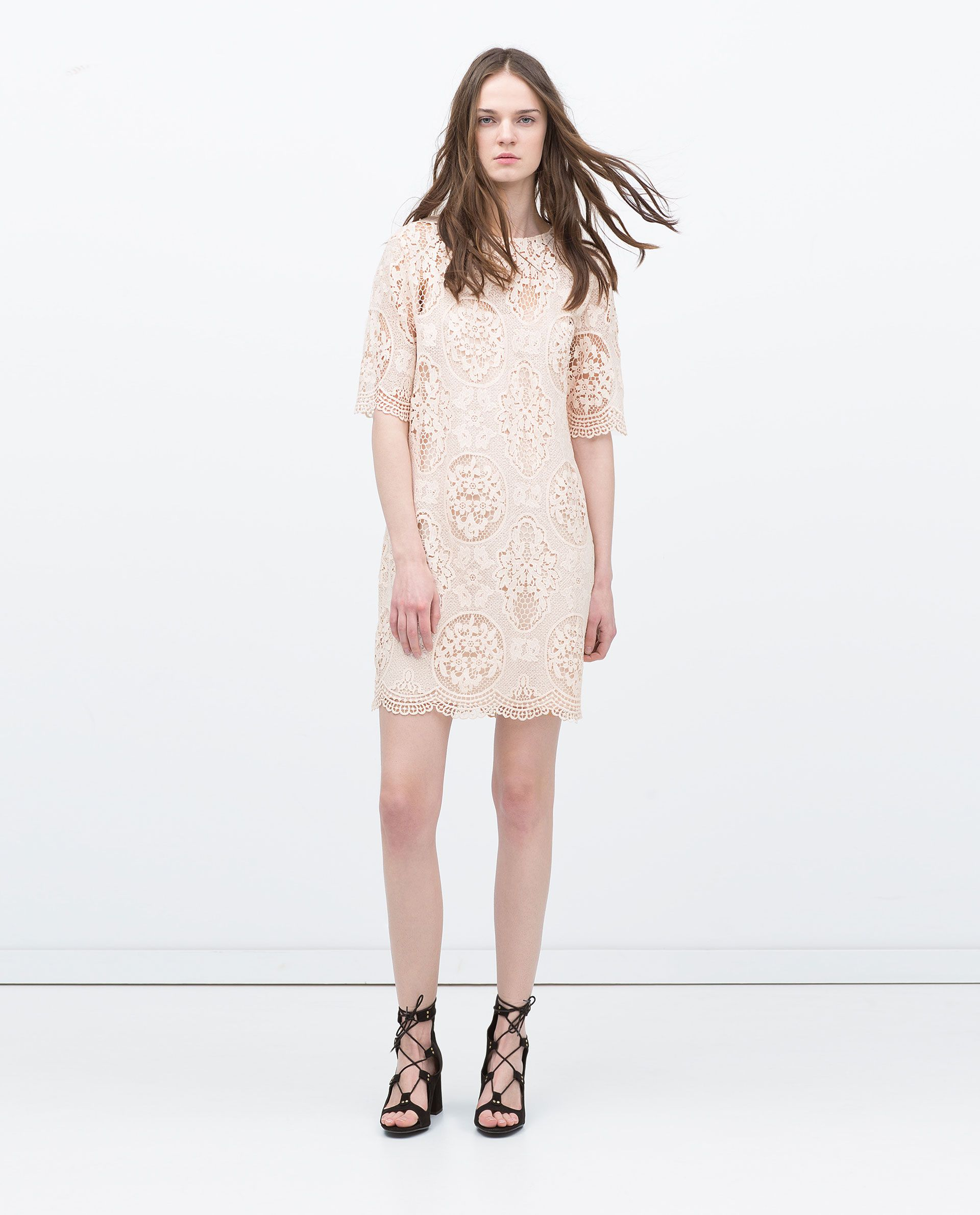 Zara new this week outfitish pinterest lace dress zara nude pink lace dress from zara ombrellifo Choice Image
