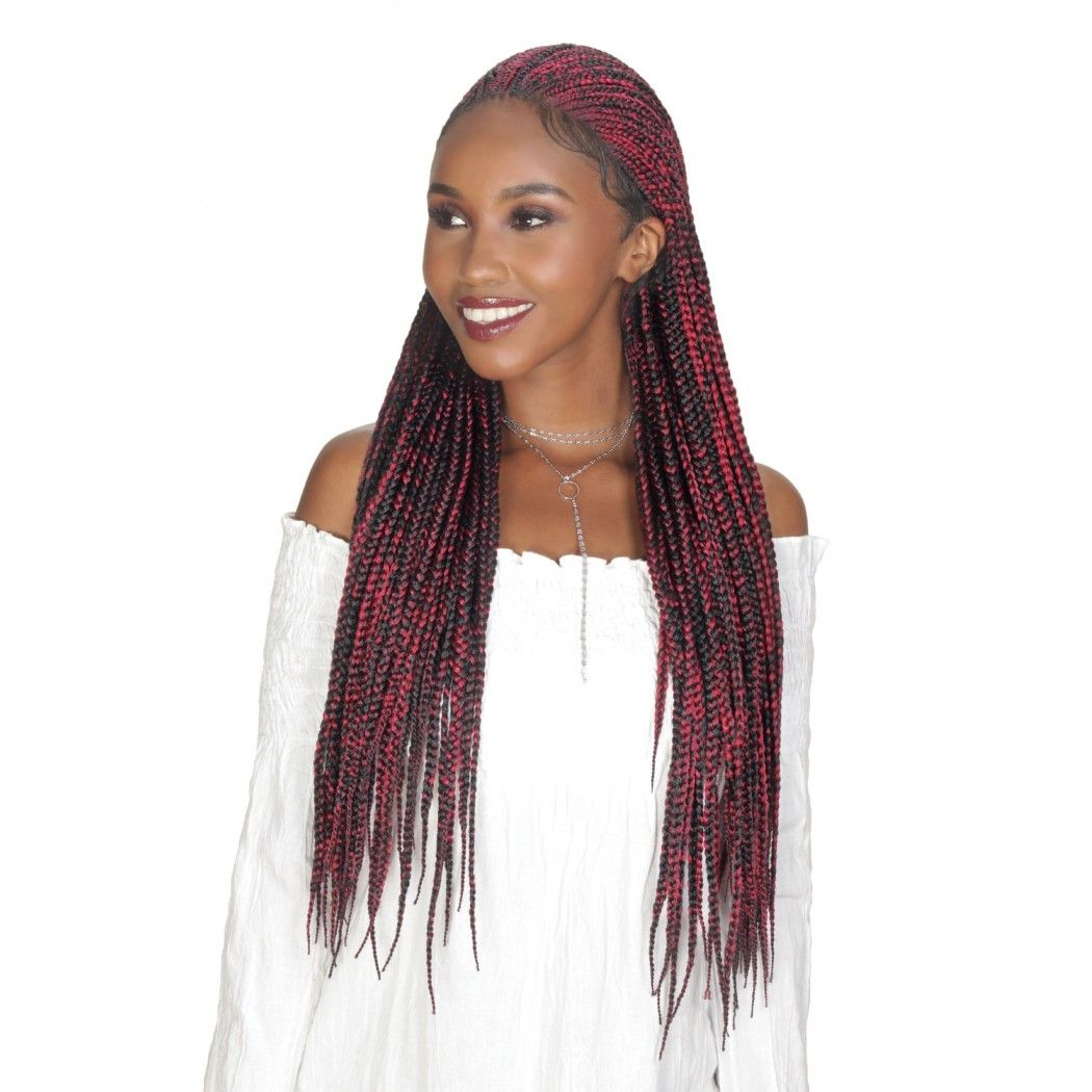 Zury Sis Synthetic Diva Box Braid Lace Front