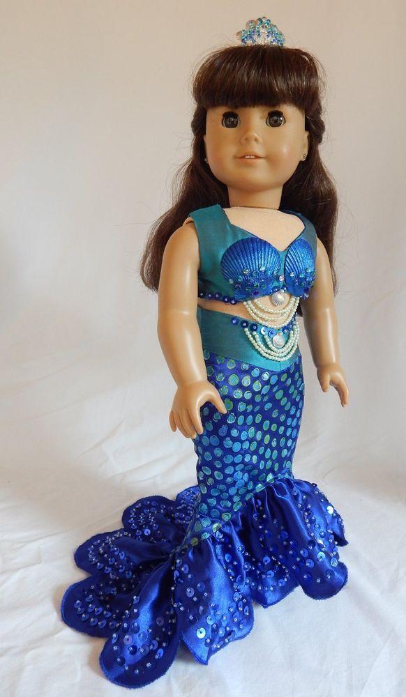 18 Inch Doll Dress Mermaid Costume Under the Sea Fits American Girl Dolls