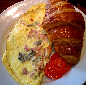 how to make a chicken and bacon omelette