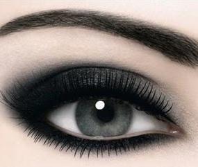 Smokey eye for icy blue eyes