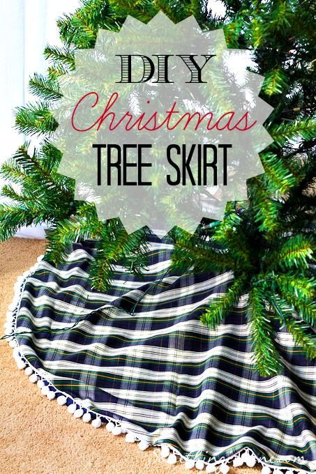 DIY Christmas Tree Skirt - Instructions for sewing a tree skirt ...