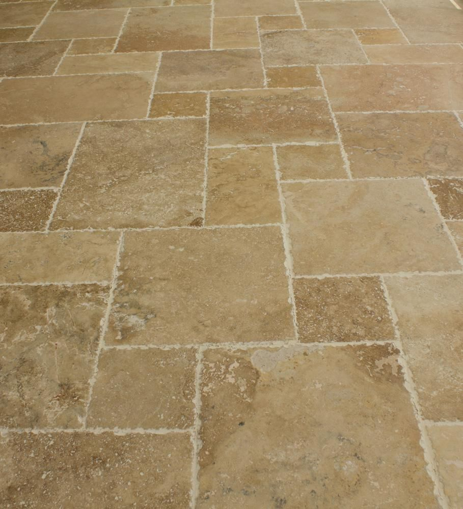 Builddirect Kesir Travertine Tile Antique Pattern Sets Travertine Floor Tile Kitchen Floor Tile Patterned Floor Tiles