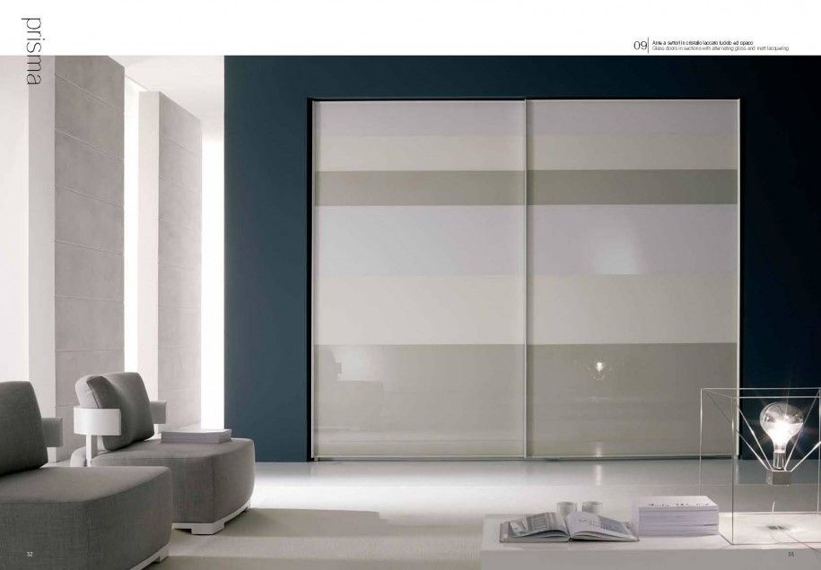 Fume Mirror Wardrobe Bedroom With Sliding Doors Modern