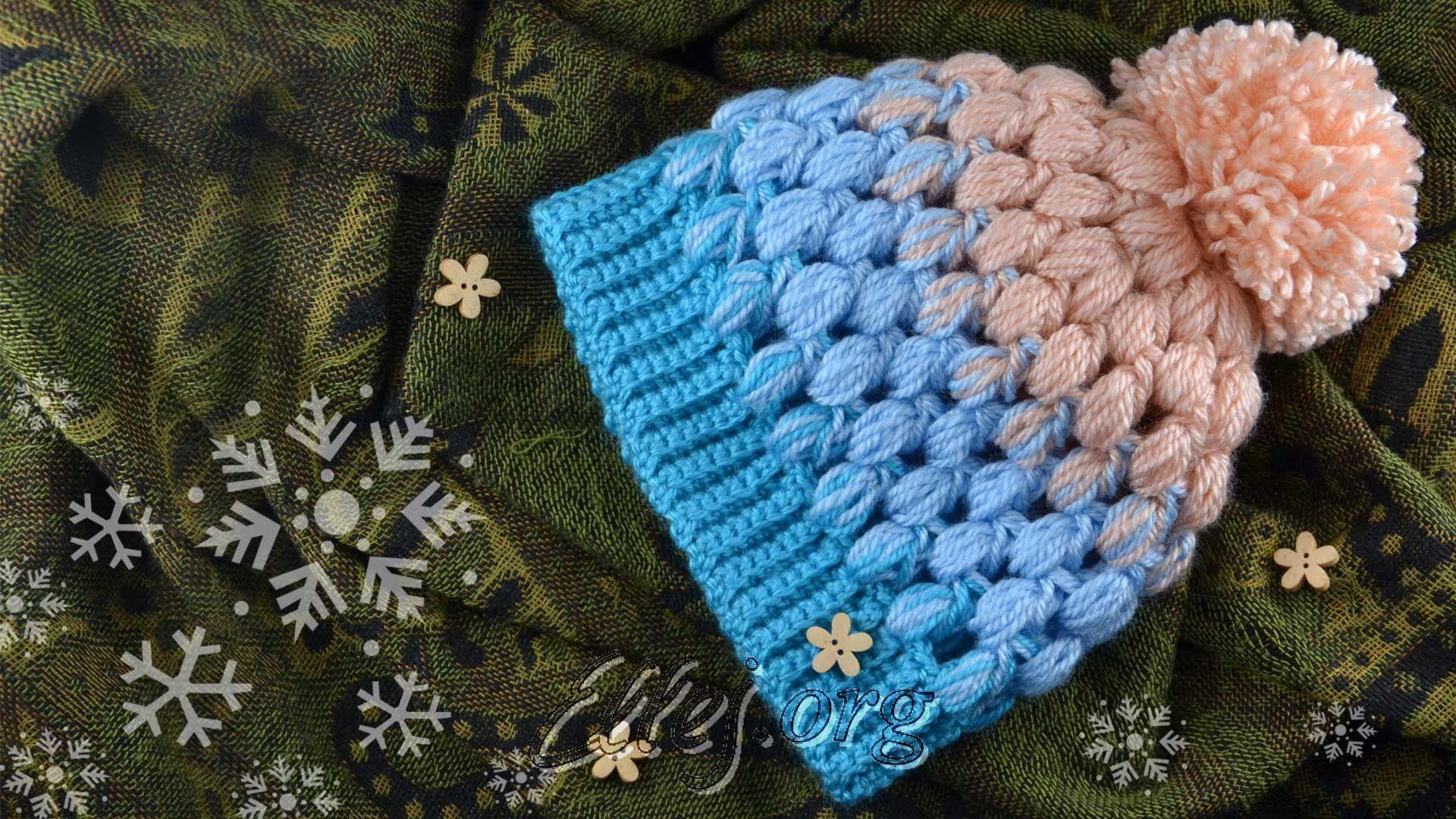 Детская шапочка из пышных столбиков | Pinterest