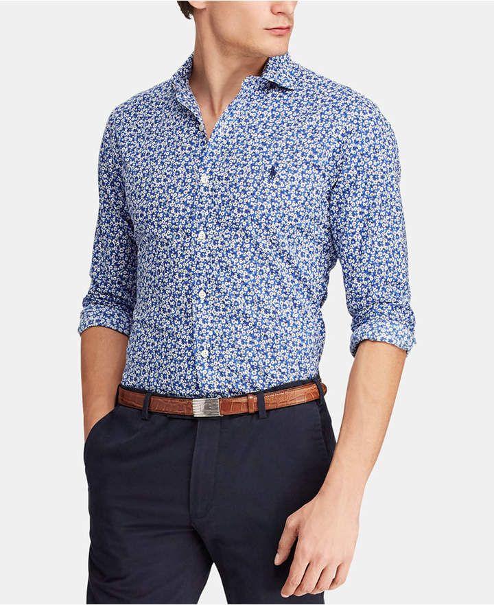 e2e42a9212 Polo Ralph Lauren Men s Classic Fit Floral Poplin Shirt - Floral ...