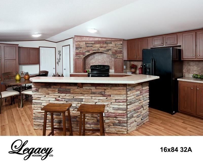 Single wide mobile home interiors 16x84 32a single wide for Single wide mobile home kitchen remodel ideas