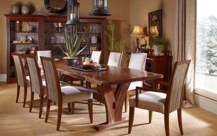Harden Furniture Cabinetmaker S Cherry Live Edge Natural Form Dining Table Harden Furniture