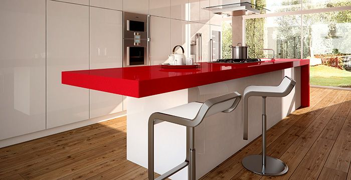 Red Shimmer 3452 Caesarstone Kitchen Inspirations Kitchen