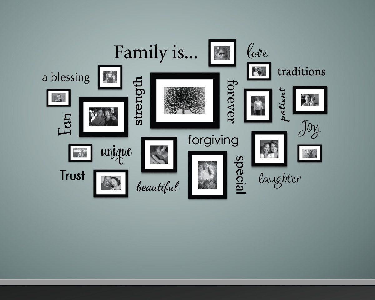 Family is... Wall Decal | Pinterest | Picture walls, Wall decals and ...