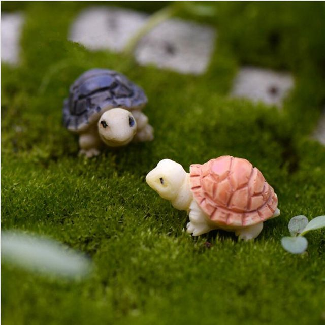 Accessories Mini Turtle On Mushroom Miniature Dollhouse FAIRY GARDEN