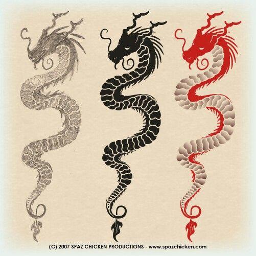 Dragon Tattoo by SpazChicken