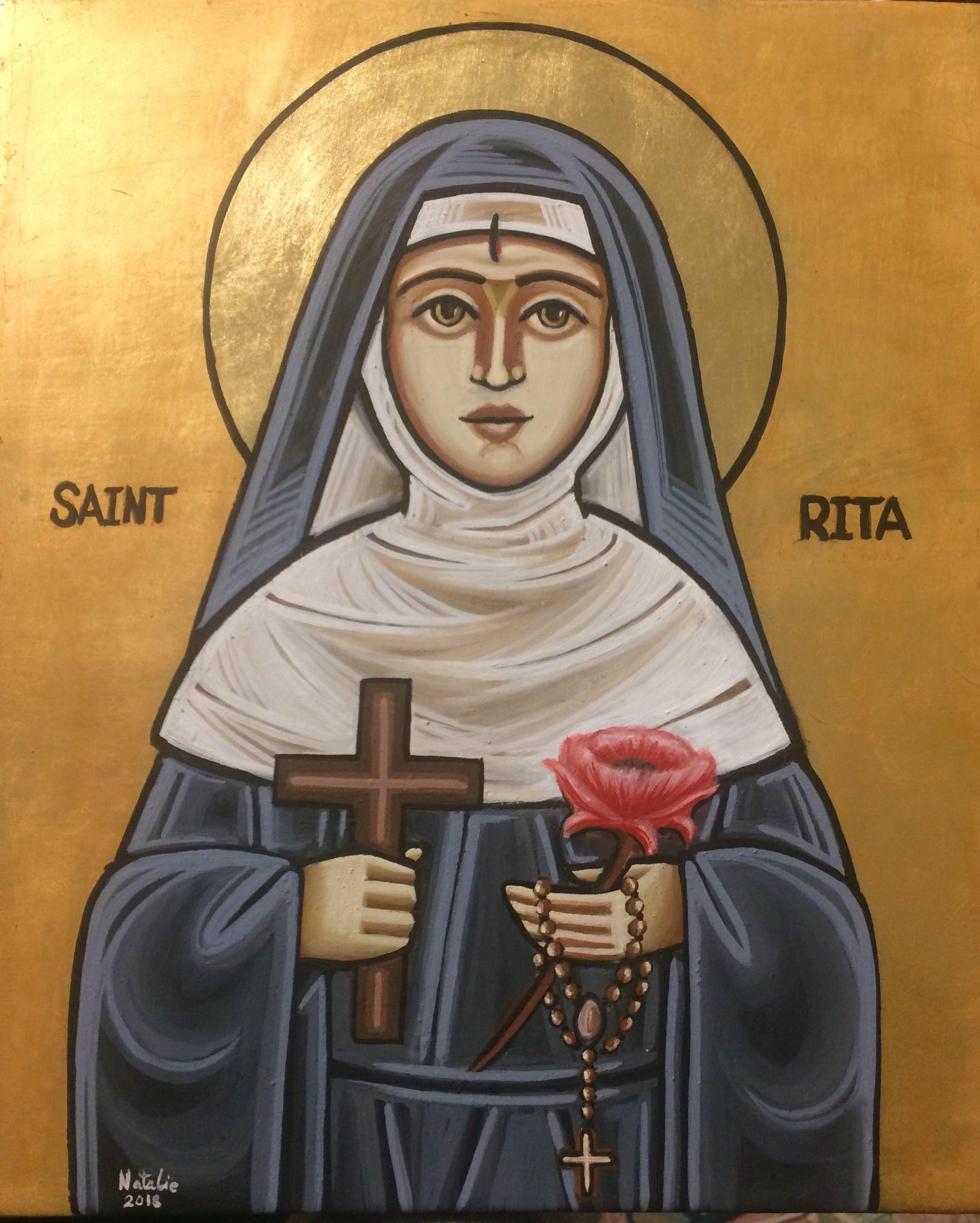 Saint Rita  , coptic icon | Coptic Christian Art in 2019