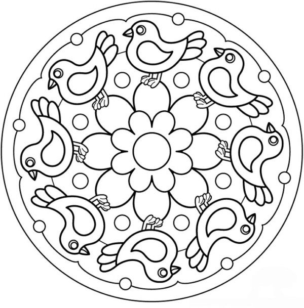 190 Mandalas para Colorear para niños | Mandalas | mandala e ...