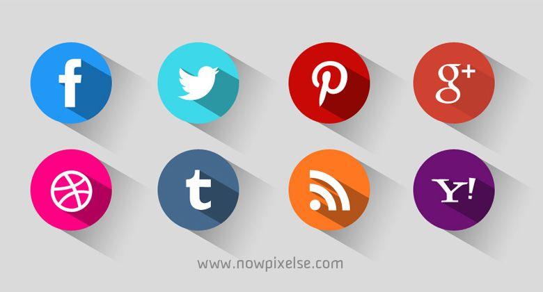 Social Media Symbole Auf Einer Business Karte In Verbindung