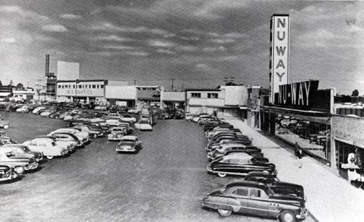 Dodge Dealership Houston Tx >> 1950s Mall | circa-1952 view of THRUWAY PLAZA, which was ...