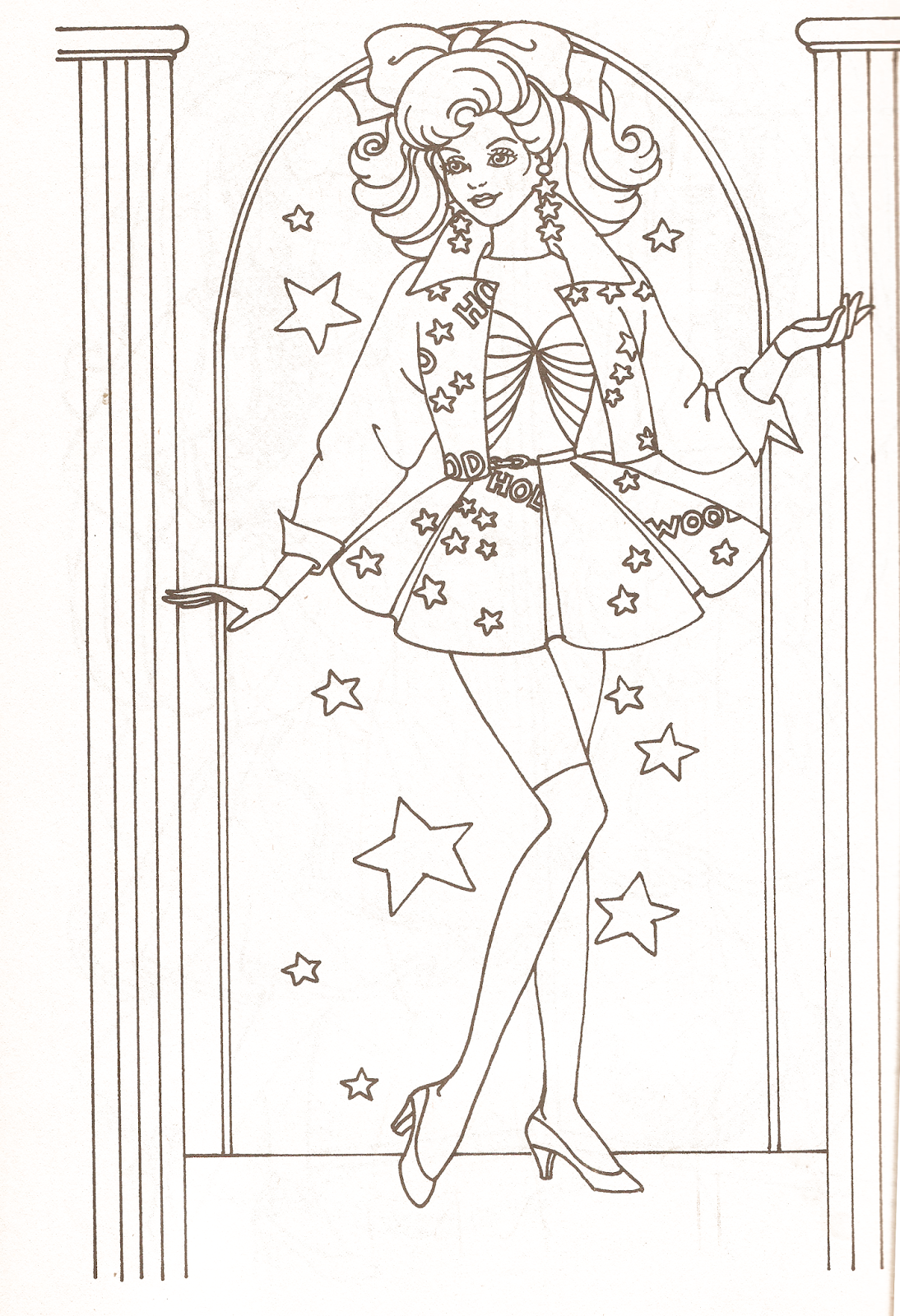 Miss Missy Paper Dolls Barbie Coloring Pages Part 2 Bojanke