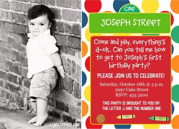 Sesame Street Photo Invitations