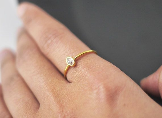 Herkimer diamond ring gold dainty rings ring for girlfriend herkimer diamond ring gold dainty rings ring for girlfriend delicate rings stacking rings boho ring rings with stones rings junglespirit Images