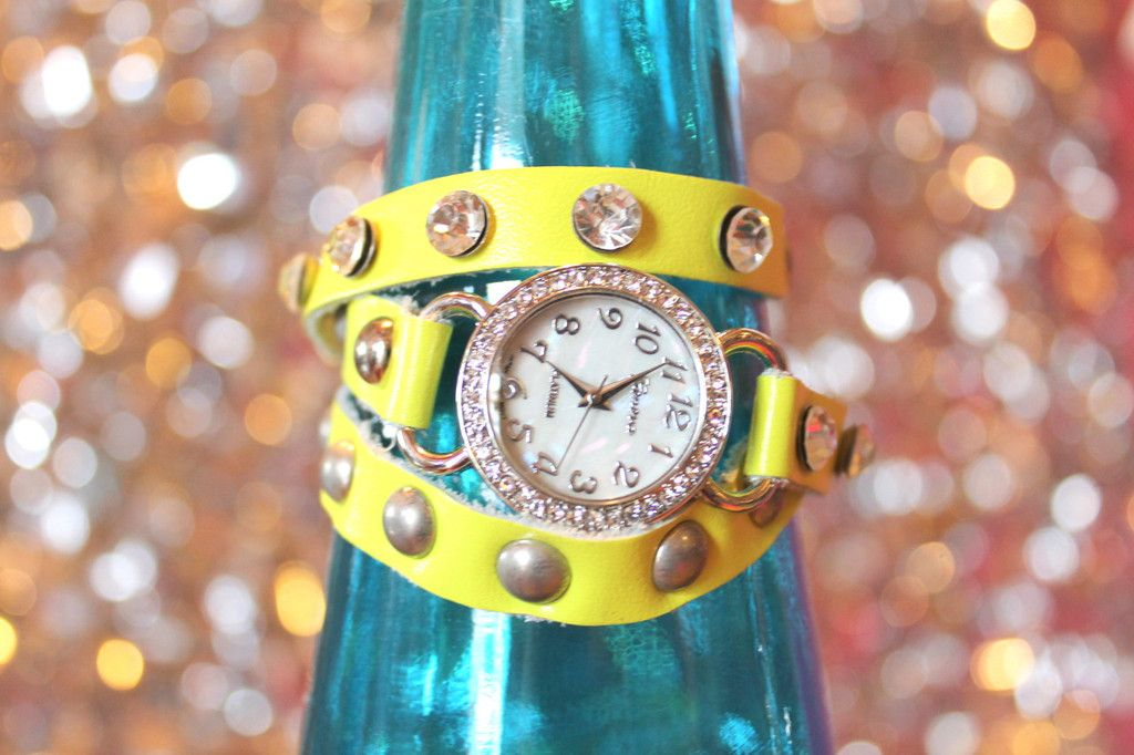 Wrap Watch in Neon Yellow