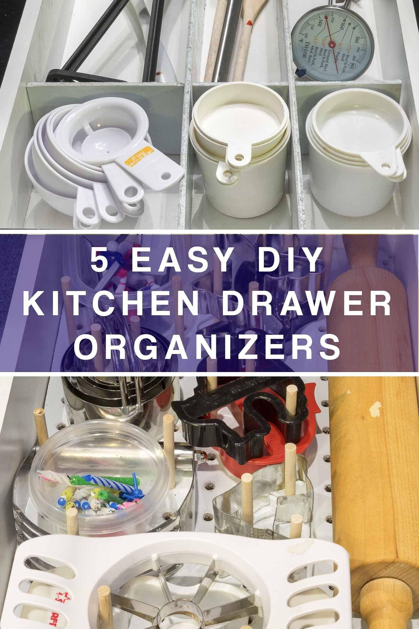 5 easy diy kitchen drawer organizer ideas kitchen drawer