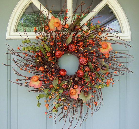 Fall+Wreath++Berry+Wreath++Fall+Berry+Door+ & Fall+Wreath++Berry+Wreath++Fall+Berry+Door+Wreath+by+countryprim+$ ...