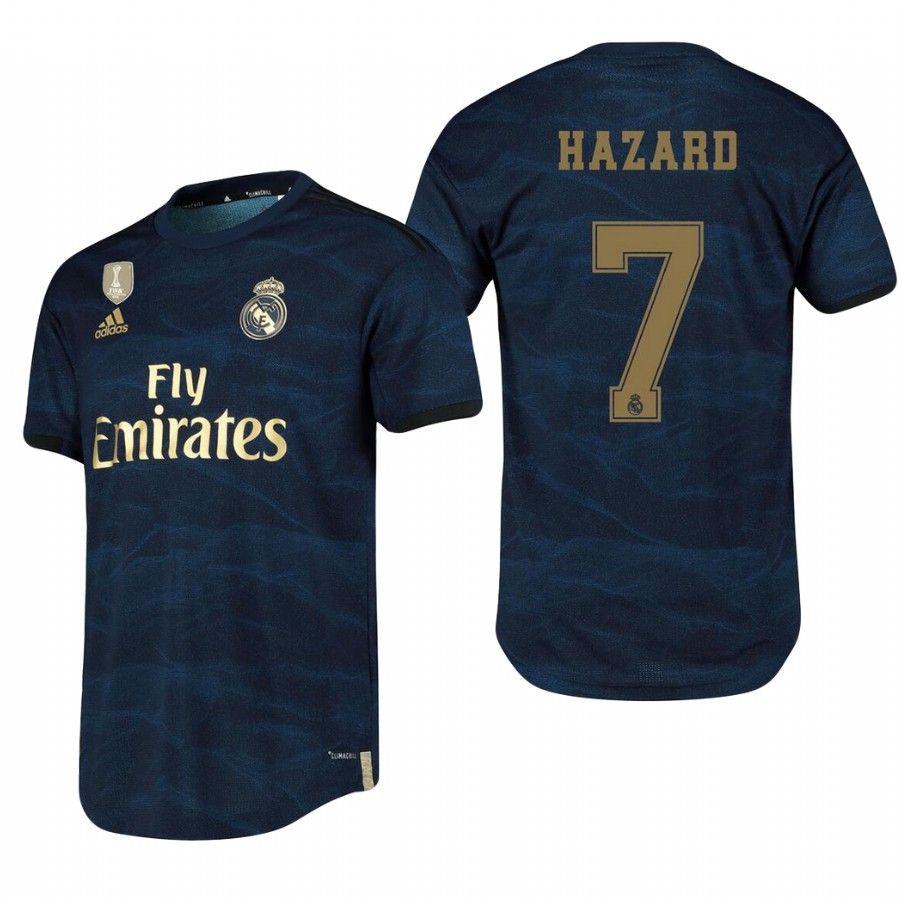 7 Eden Hazard Real Madrid 2019 2020 Away Soccer Jersey Shirt Hazard Real Madrid Soccer Jersey Jersey Shirt