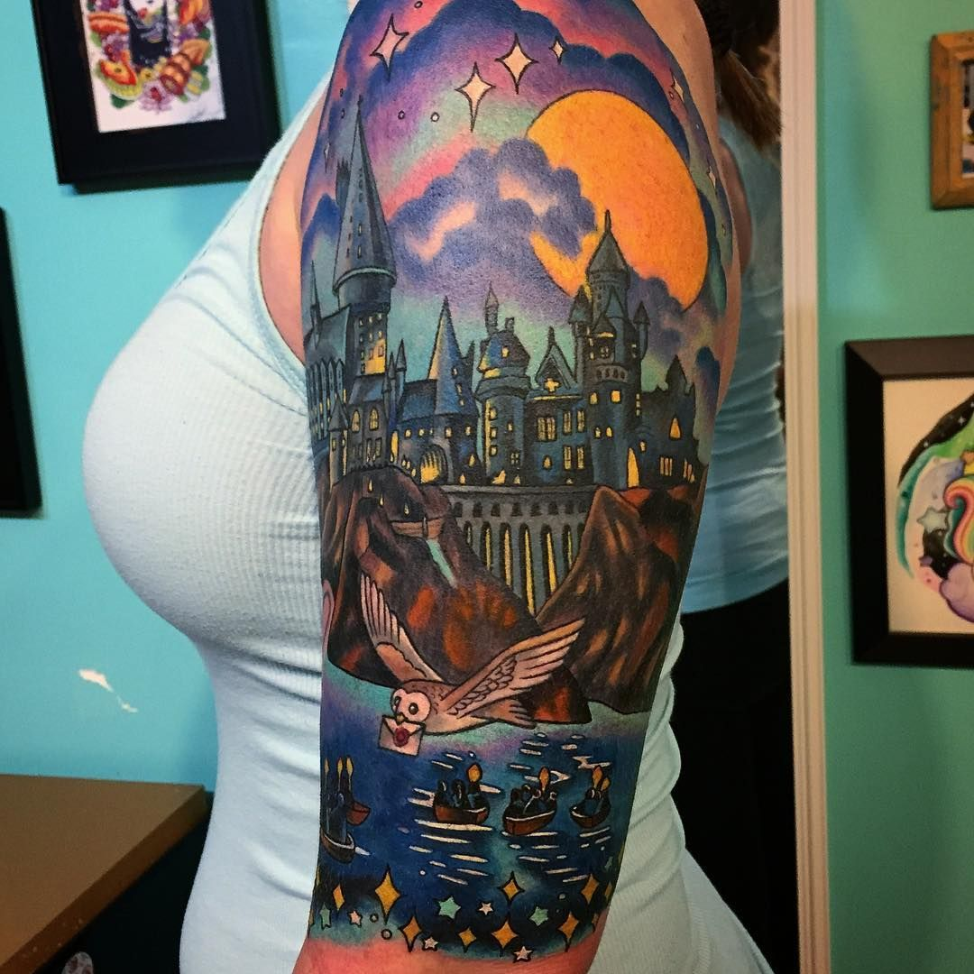 55a83de9e Harry Potter sleeve by Melvin Arizmendi | harry potter tattoos ...