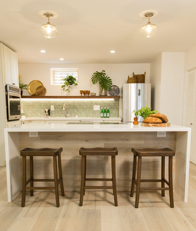 Green Glass Mosaic Backsplash Tile Kitchen Decor Modern Clever Kitchen Ideas Contemporary Kitchen