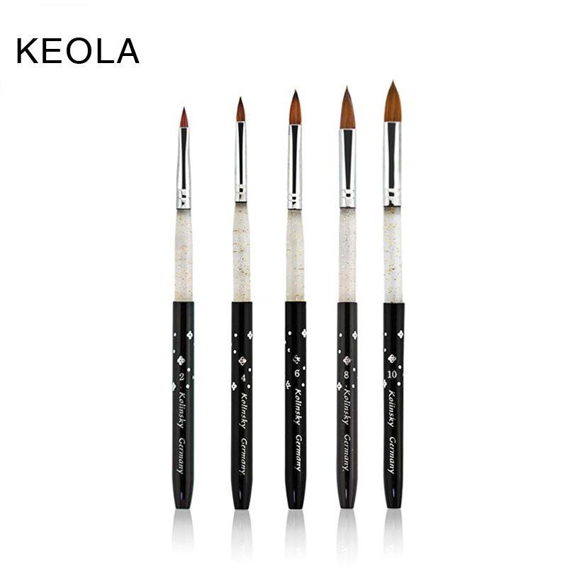 KEOLA Kolinsky Sable Acrylic Brush 5pcs/SET size 2#/4#/6#/8#/10 ...