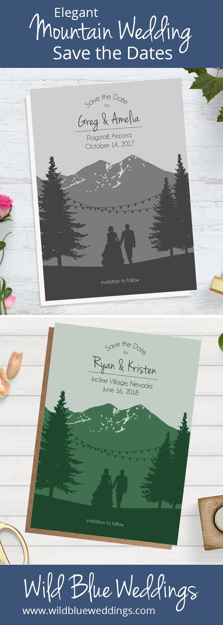 Wedding decorations trees with lights october 2018 Unique wedding thank you cards with custom illustrated silhouettes