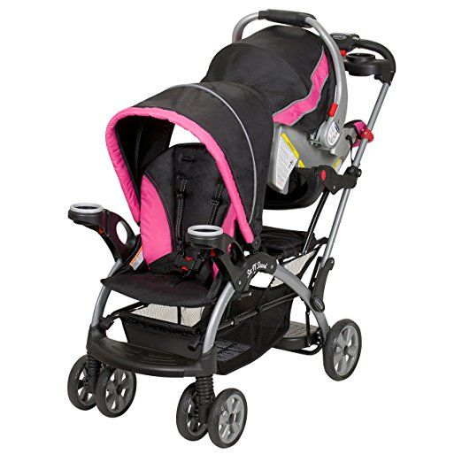 Millennium Pink Baby Trend Sit /'N Stand Double Stroller