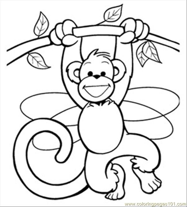 monkey printables | ... Ss Fairy207 (Mammals > Monkey) - free ...