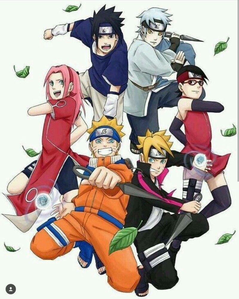 Boruto Naruto: Old Team 7 And New Team 7