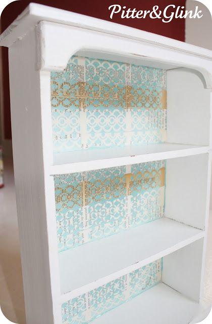 Cute And Simple Bookshelf Redo DIY Included PitterAndGlink