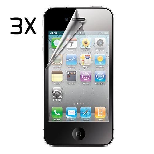 Pack 3 protectores de pantalla para iphone4/4s