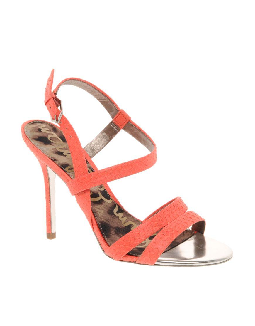 d5a0c0b4b7940 Sam Edelman Abbott Neon Strappy Sandals