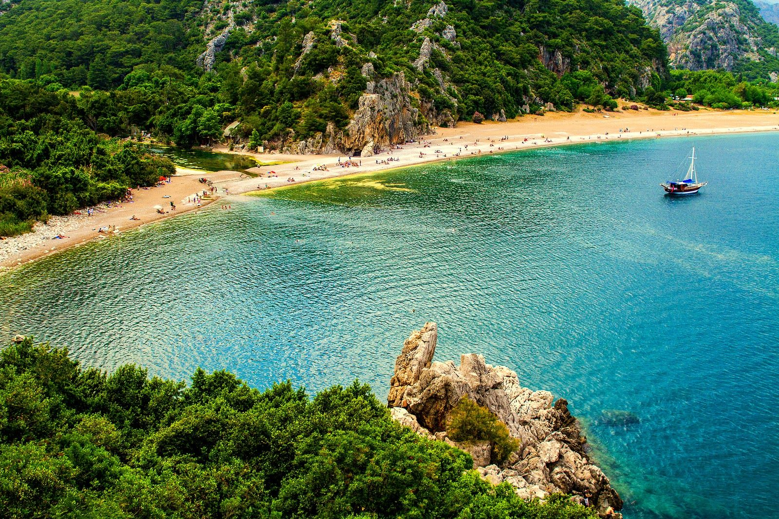 Olympos Antalya Turkey. Turquoise And Beaches