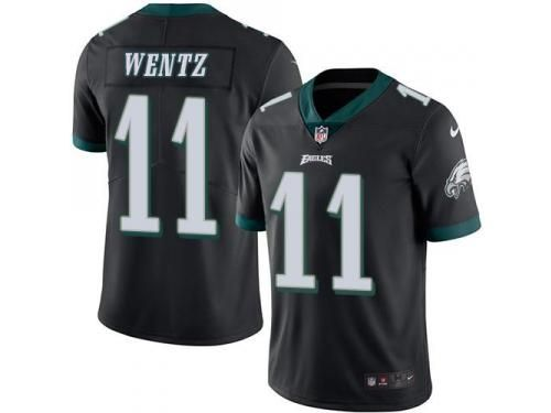 nike eagles 11 carson wentz black youth stitched nfl limited rush jersey