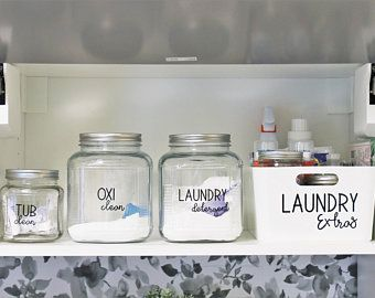 SET of 32 Laundry Room Labels - INSTANT DOWNLOAD -